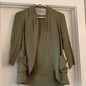 Green lightweight blazer, from Urban Outfitters XS